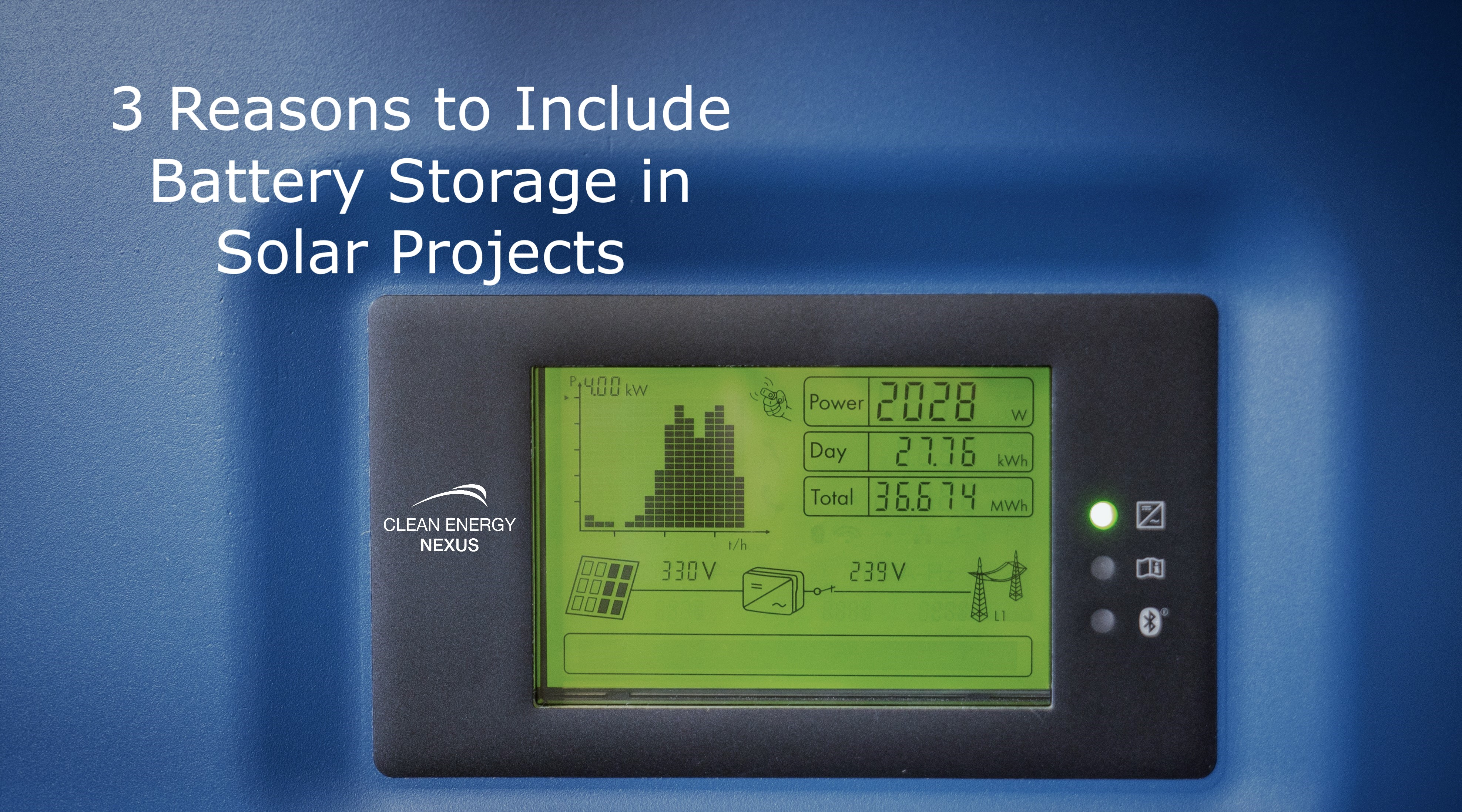 3 Reasons to Include Battery Storage