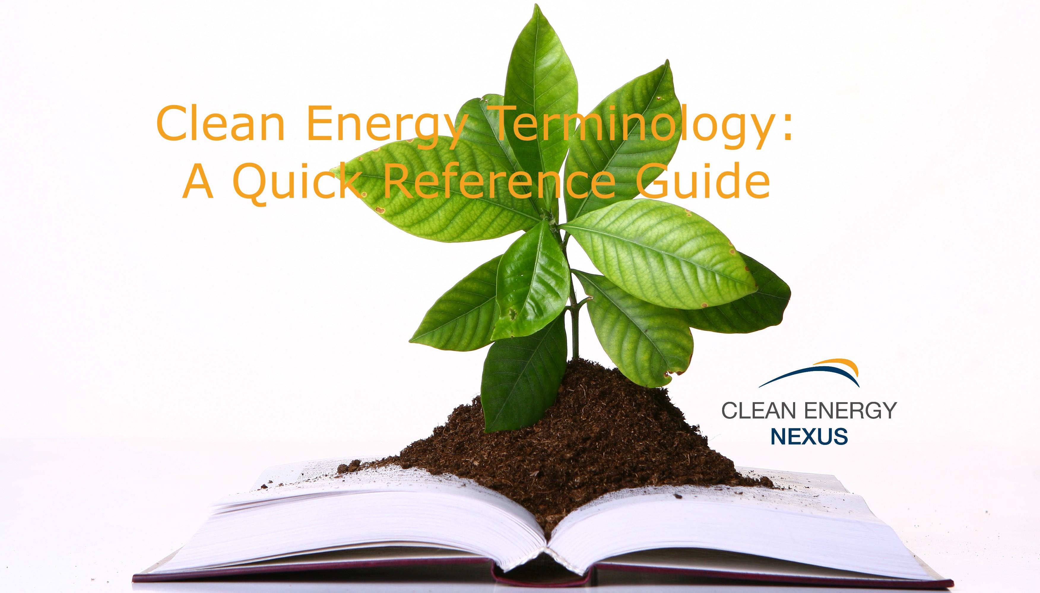 Clean Energy Terminology V1